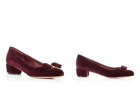 Salvatore Ferragamo Women's Vara Velvet Low Heel Pumps - Bloomingdale's_2