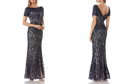 JS Collections Embroidered Lace Gown - Bloomingdale's_2