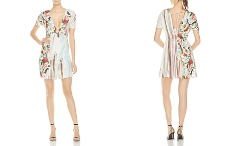 Haute Hippie French Riviera Floral Silk Wrap Dress - Bloomingdale's_2