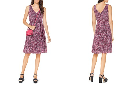 MICHAEL Michael Kors Floral-Print Fit-and-Flare Dress - Bloomingdale's_2