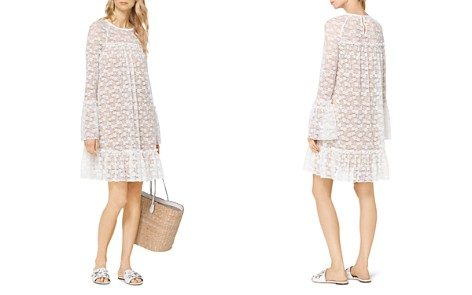 MICHAEL Michael Kors Floral Lace Bell Sleeve Dress - Bloomingdale's_2