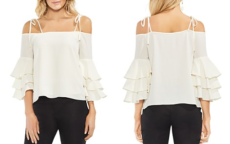 VINCE CAMUTO Tiered Ruffle-Sleeve Top - Bloomingdale's_2