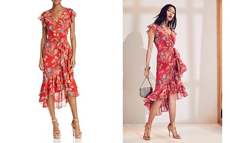 WAYF Clara Ruffled Botanical Print Wrap Dress - Bloomingdale's_2