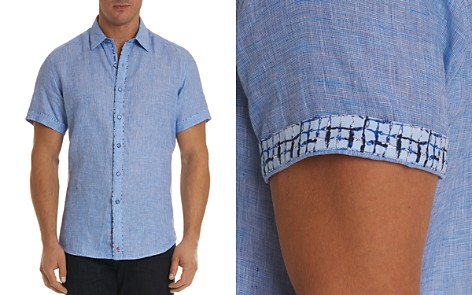 Robert Graham Gills Linen Regular Fit Button-Down Shirt - Bloomingdale's_2