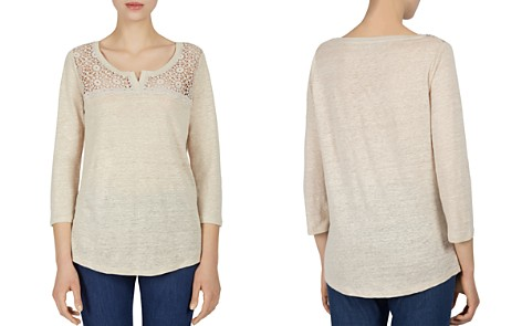 Gerard Darel Palm Lace-Yoke Tee - Bloomingdale's_2