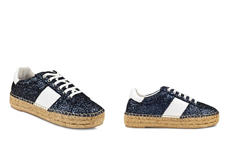 Marc Fisher LTD. Women's Margo Glitter Leather Lace-Up Espadrille Sneaker - Bloomingdale's_2