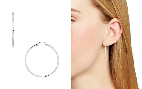 AQUA Dimpled Sterling Silver Hoop Earrings - 100% Exclusive - Bloomingdale's_2
