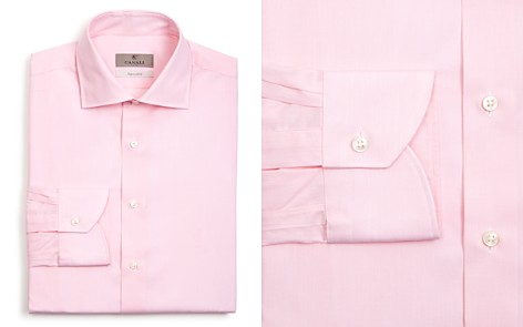 Canali Solid Regular Fit Dress Shirt - Bloomingdale's_2