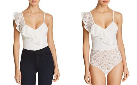 Sam Edelman Asymmetric Ruffle Lace Bodysuit - Bloomingdale's_2