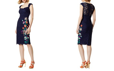 KAREN MILLEN Embroidered Lace Sheath Dress - Bloomingdale's_2