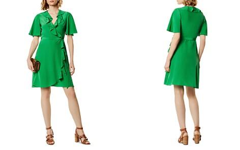 KAREN MILLEN Ruffled Silk Wrap Dress - Bloomingdale's_2