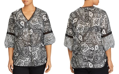 Lauren Ralph Lauren Plus Embroidered Paisley-Print Top - Bloomingdale's_2