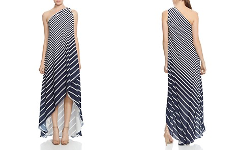 HALSTON HERITAGE One-Shoulder Striped Gown - Bloomingdale's_2