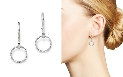KC Designs 14K White Gold Diamond Open Circle Drop Earrings - Bloomingdale's_2