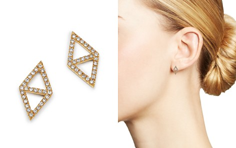 KC Designs 14K Yellow Gold Double Triangle Diamond Earrings - Bloomingdale's_2