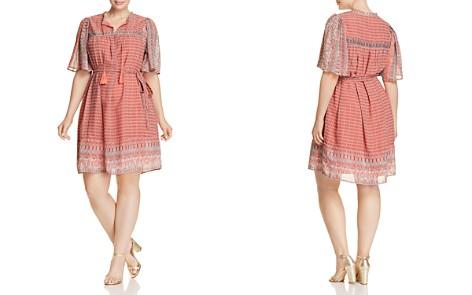 Lucky Brand Plus Jenna Geo Print Peasant Dress - Bloomingdale's_2