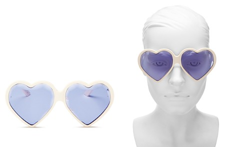 Gucci Heart Sunglasses, 60mm - Bloomingdale's_2