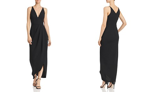 AQUA Draped Crepe Midi Gown - 100% Exclusive - Bloomingdale's_2