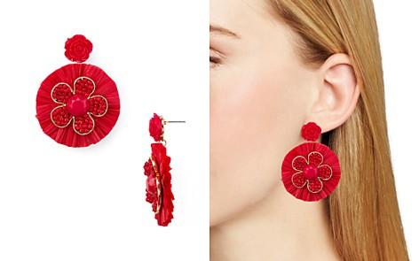 AQUA Raffia Floral Drop Earrings - 100% Exclusive - Bloomingdale's_2