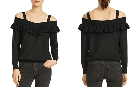 Maje Marais Cold-Shoulder Sweater - Bloomingdale's_2