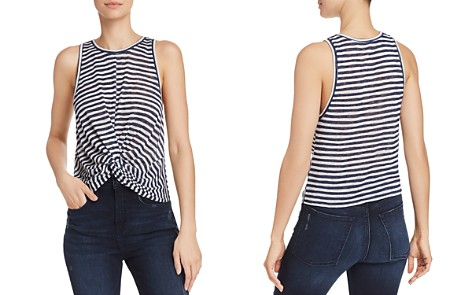 AQUA Twist-Front Striped Tank - 100% Exclusive - Bloomingdale's_2