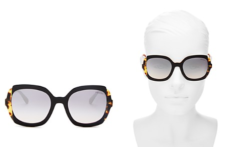 Prada Women's Eiquette Mirrored Square Sunglasses, 54mm - Bloomingdale's_2