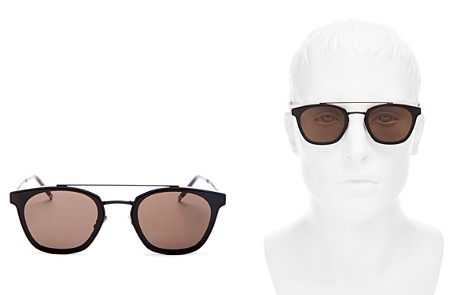 Saint Laurent Brow Bar Square Sunglasses, 61mm - Bloomingdale's_2