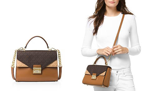 MICHAEL Michael Kors Medium Double Flap Leather Satchel - Bloomingdale's_2