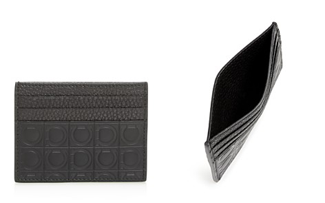 Salvatore Ferragamo Embossed Leather Card Case - Bloomingdale's_2