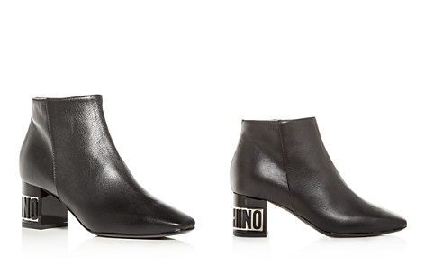 Moschino Women's Leather Logo Block-Heel Booties - Bloomingdale's_2