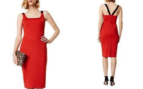 KAREN MILLEN Contrast-Strap Sheath Dress - Bloomingdale's_2