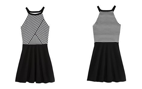 AQUA Girls' Contrast Striped Dress, Big Kid - 100% Exclusive - Bloomingdale's_2