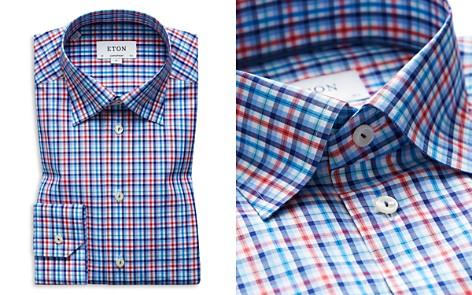Eton Plaid Regular Fit Dress Shirt - Bloomingdale's_2