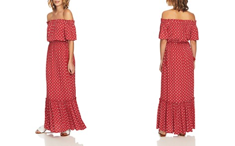 1.STATE Off-the-Shoulder Printed Maxi Dress - Bloomingdale's_2