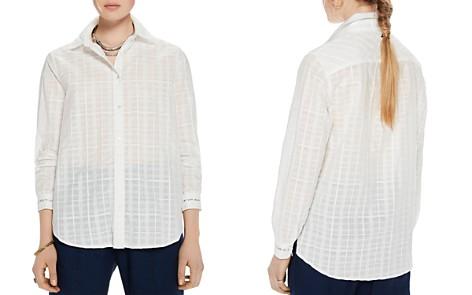 Scotch & Soda Sheer Cotton Checked Shirt - Bloomingdale's_2