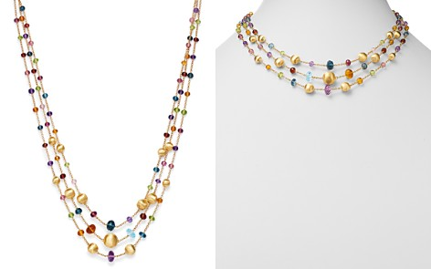 "Marco Bicego 18K Yellow Gold Africa Color Multi Gemstone Three-Strand Necklace, 16"" - 100% Exclusive - Bloomingdale's_2"