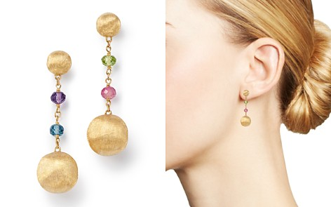 Marco Bicego 18K Yellow Gold Africa Color Multi Gemstone Drop Earrings - 100% Exclusive - Bloomingdale's_2