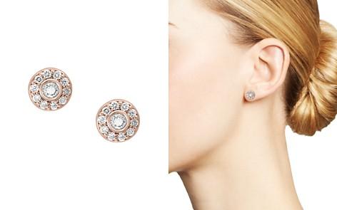 Bloomingdale's Diamond Bezel Circle Stud Earrings in 14K Rose Gold, 0.50 ct. t.w. - 100% Exclusive_2