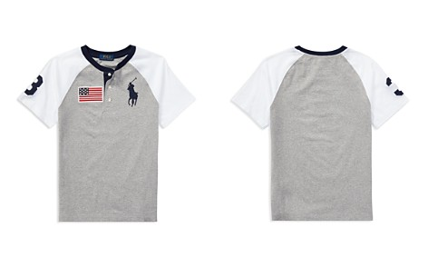 Polo Ralph Lauren Boys' Cotton Jersey Big Pony Henley Tee - Big Kid - Bloomingdale's_2