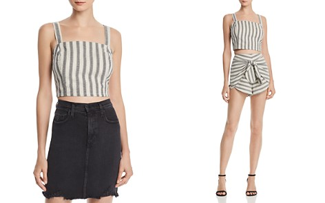 AQUA Striped Cropped Tank - 100% Exclusive - Bloomingdale's_2