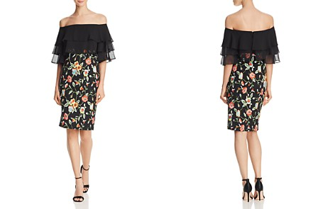 Aidan by Aidan Mattox Off-the-Shoulder Embroidered Dress - Bloomingdale's_2
