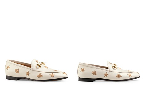 Gucci Women's Jordaan Embroidered Leather Loafers - Bloomingdale's_2