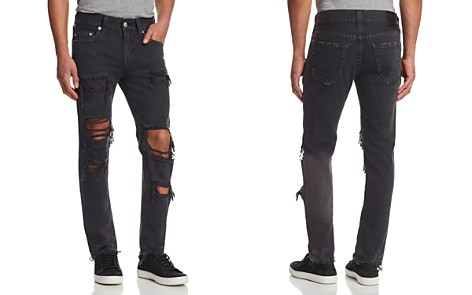 True Religion Rocco Slim Fit Jeans in Black Volcanic Ash - Bloomingdale's_2