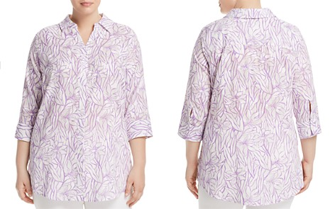 Foxcroft Plus Faith Floral-Print Tunic Top - Bloomingdale's_2