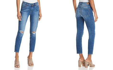 PAIGE Verdugo Skinny Crop Jeans in Preslee Destructed - Bloomingdale's_2