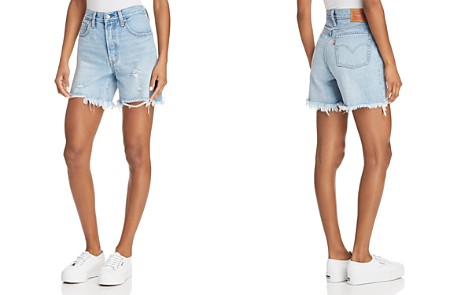 Levi's Indie Distressed Denim Shorts in Clean Break - Bloomingdale's_2