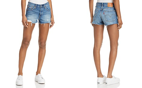 Levi's 501 Distressed Denim Shorts in Back to Your Heart - Bloomingdale's_2