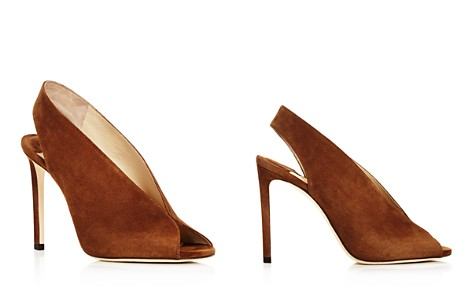 Jimmy Choo Women's Shar 100 Suede Peep Toe High-Heel Pumps - Bloomingdale's_2