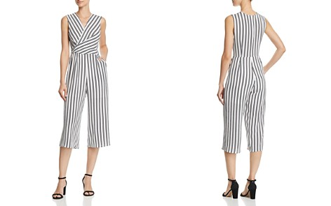 AQUA Twist Detail Striped Jumpsuit - 100% Exclusive - Bloomingdale's_2