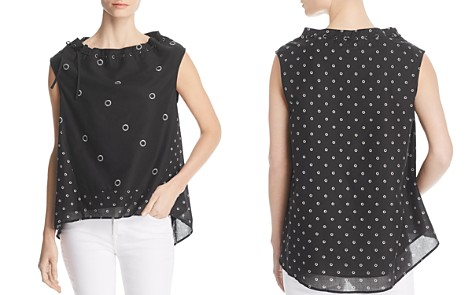 Kenneth Cole Cotton Poplin Grommet-Print Top - Bloomingdale's_2